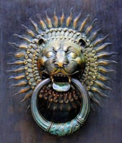 006 - Lion Head Door Knocker